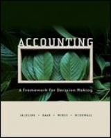 Accounting : a framework for decision making / [Beverley] Jackling, [Jean] Raar, [Graeme] Wines, [Tracey] McDowall.