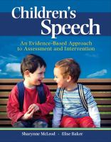 Children's speech : an evidence-based approach to assessment and intervention / Sharynne McLeod, Elise Baker.