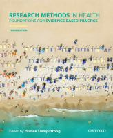 Research methods in health : foundations for evidence-based practice / edited by Pranee Liamputtong.