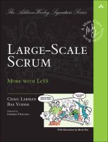 Large-scale Scrum : more with LeSS / Craig Larman, Bas Vodde.
