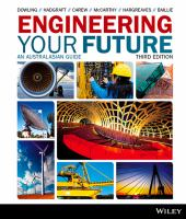 Engineering your future : an Australasian guide / David Dowling.