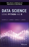 Data Science Using Python and R.