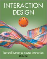Interaction Design : Beyond Human-Computer Interaction.