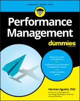 Performance Management for Dummies.