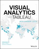 Visual Analytics with Tableau.