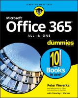 Office 365 All-In-One for Dummies.