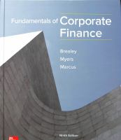 Fundamentals of corporate finance / Richard A. Brealey, Stewart C. Myers, Alan J. Marcus.