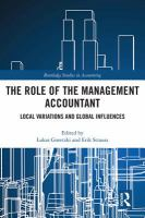 The Role of the Management Accountant : Local Variations and Global Influences.