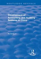 Development of Accounting and Auditing Systems in China.