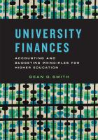 University Finances : Accounting and Budgeting Principles for Higher Education.