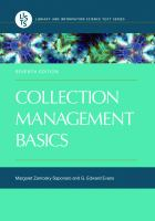 Collection management basics / Margaret Zarnosky Saponaro and G. Edward Evans.