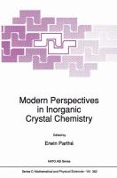 Modern perspectives in inorganic crystal chemistry / edited by Erwin Parthé.
